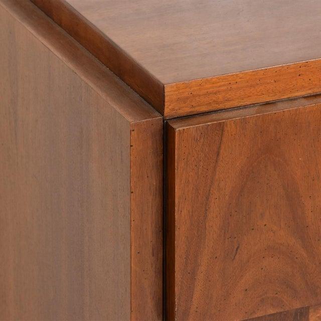 Brown Mid-Century Modern Brutalist Patchwork Walnut Tiles Dresser by Lane For Sale - Image 8 of 10