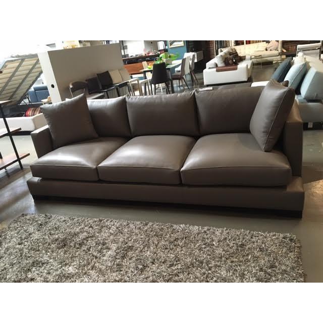 """Nathan Anthony Leather """"Super Nova"""" Sofa - Image 2 of 4"""