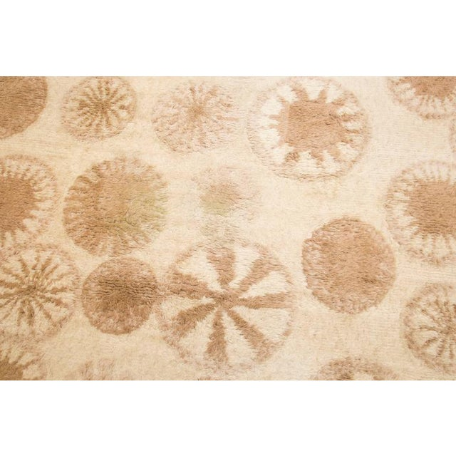 Tan Rare and Decorative Cogolin Wool Carpet, France, 1970 For Sale - Image 8 of 11