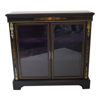 19th-Century English Ebonized Pier Cabinet For Sale
