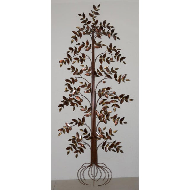 Metal Curtis Jere Copper Toned Metal Tree Sculpture C.1970s For Sale - Image 7 of 7