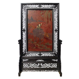 Chinese Lacquer Screen Display