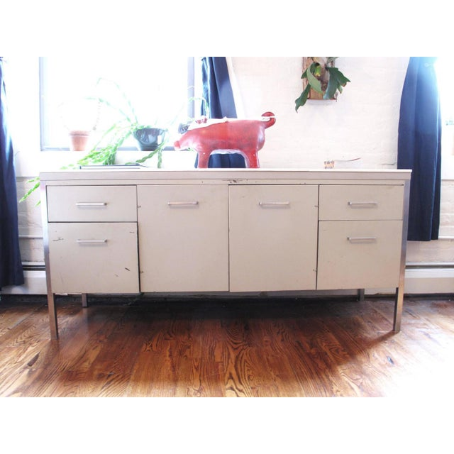 Herman Miller Style Steel and Marble Credenza - Image 2 of 6