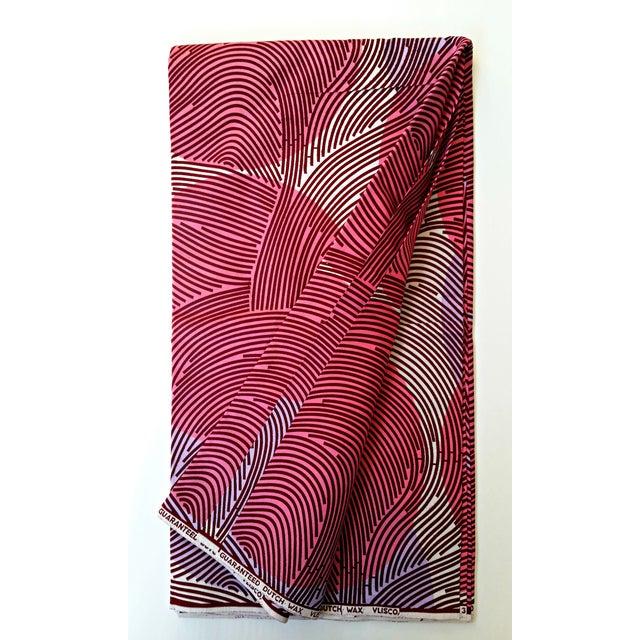 Pink & Purple African Dutch Wax Fabric - 8 Yards - Image 2 of 5