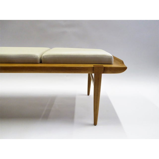 1950s Tomlinson's Sophisticates Line Mid-Century Modern Walnut Bench For Sale In Miami - Image 6 of 13