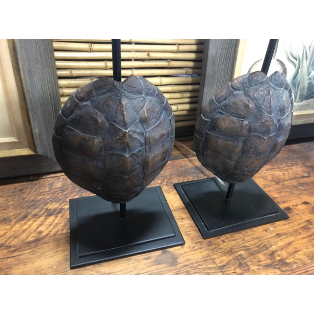 Faux Turtle Shell Lamps- a Pair For Sale In West Palm - Image 6 of 8