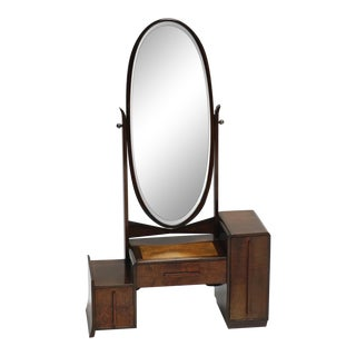 Early 20th Century Vanity Mirror With Drawers For Sale