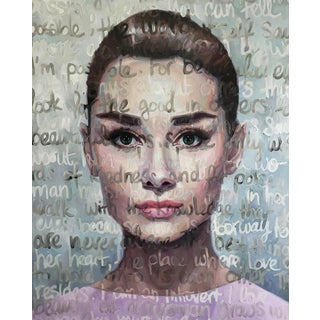 Large Oil on Canvas Painting Titled: Audrey For Sale