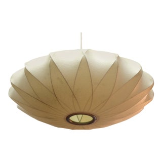 George Nelson Mid-Century Modern Cocoon Pendant Light For Sale