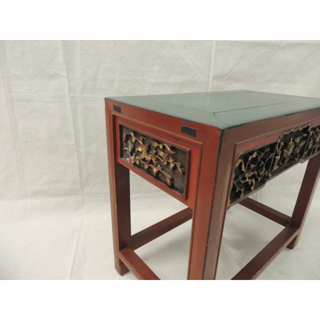 Vintage Chinese Lacquered Side Table - Image 4 of 7