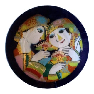1970's Bjorn Wiinblad for Rosenthal 1001 Nights Plate For Sale