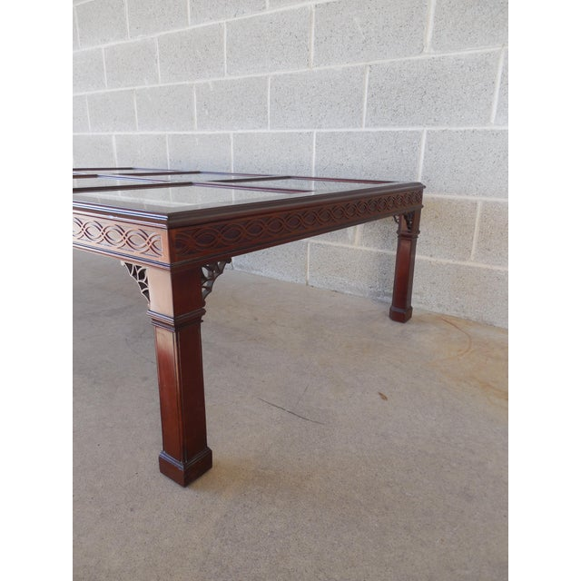 Kindel Chippendale Style Mahogany Coffee Table For Sale In Philadelphia - Image 6 of 7