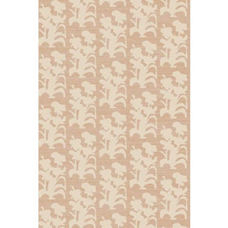 Suzani Floral Large Apricot Wallpaper For Sale