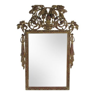 Antique Hand-Carved Decorative Wall Mirror For Sale