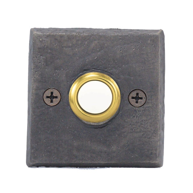 Cabin Square Classic Doorbell, Traditional Patina For Sale - Image 3 of 4