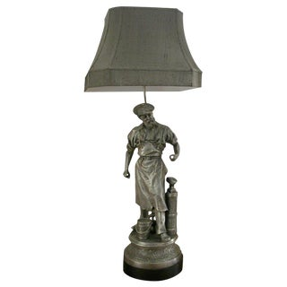 The Village Blacksmith Table Lamp For Sale