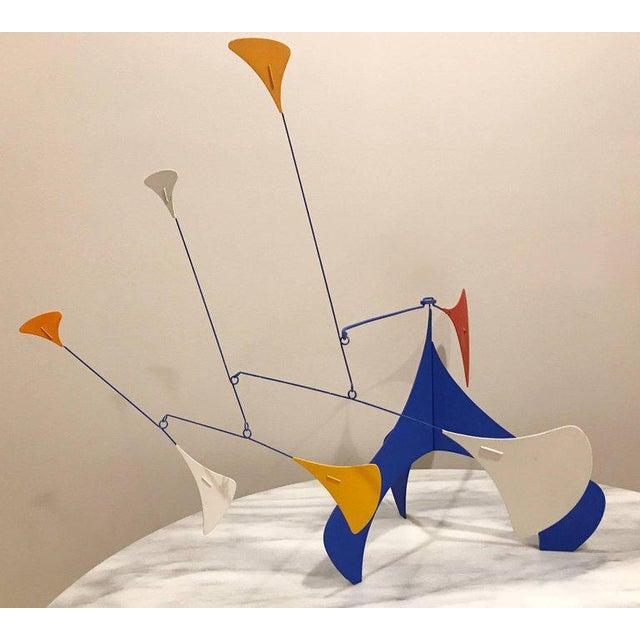 Mid-Century Modern Art Deco table sculpture or mobile after Alexander Calder. A limited production work signed LTD 97.