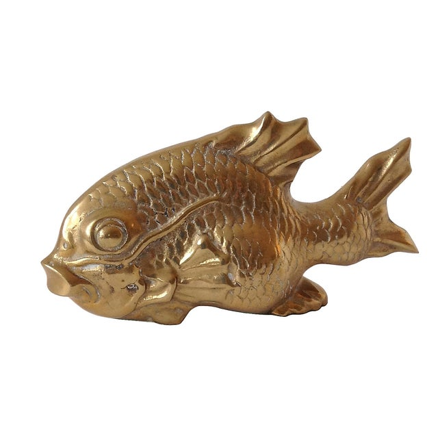 Vintage Large Brass Koi Fish For Sale