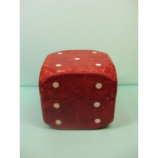 1970s Figurative Giant Lord & Taylor Red Leather Dice Box Container Preview