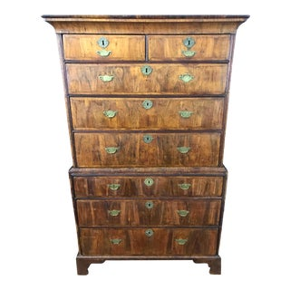 18th Century George II Walnut Chest on Chest For Sale