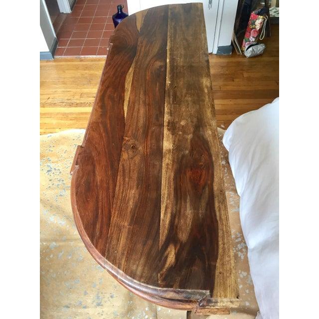 Antique Oak Hall Desk - Image 3 of 7