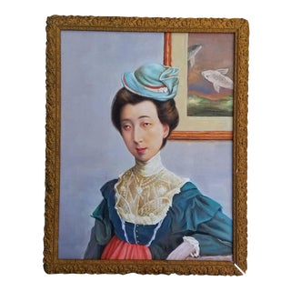 Curiosity Chinese Lady Portrait For Sale