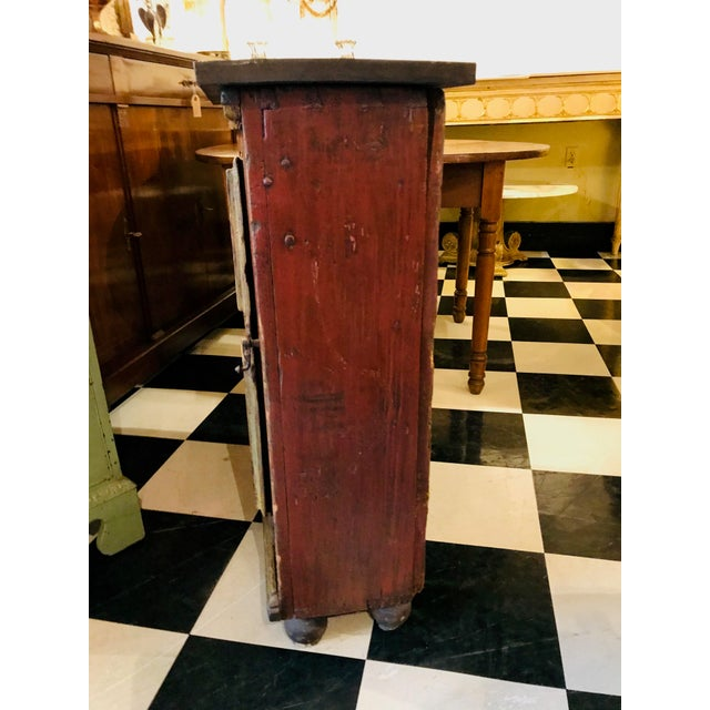 18th Century Swedish, Paint Decorated Cabinet For Sale - Image 4 of 8