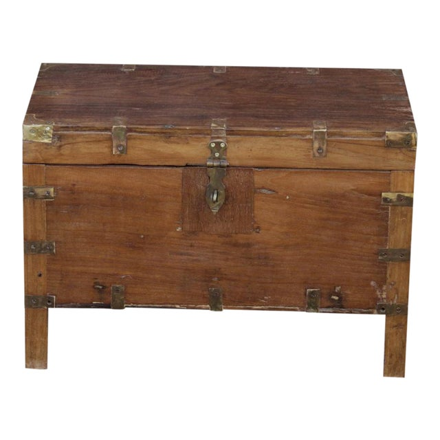 Early 20th Century Wooden Campaign Trunk - Image 1 of 6