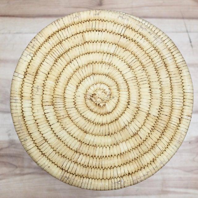 Handwoven Tohono O'Odham Native American Basket For Sale - Image 9 of 10