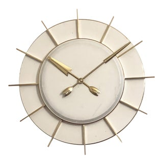 Large Industrial Factory or Station Clock by Tn Telefonbau Und Normalzeit For Sale