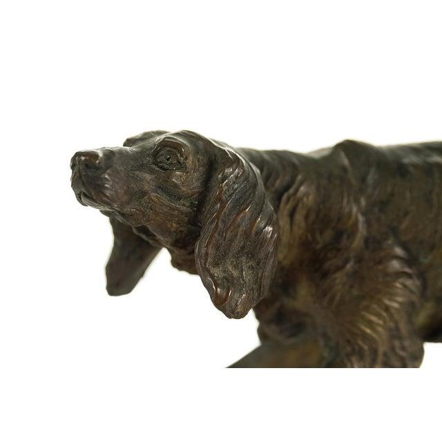 Vintage Austrian Bronze Setter Dog Figurine For Sale - Image 4 of 9