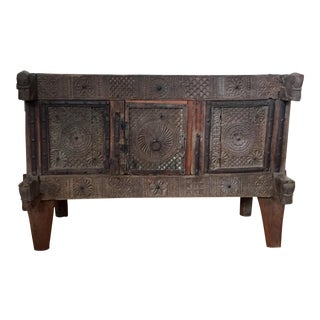 18th Century Asian Indian Antique Dowry Chest For Sale