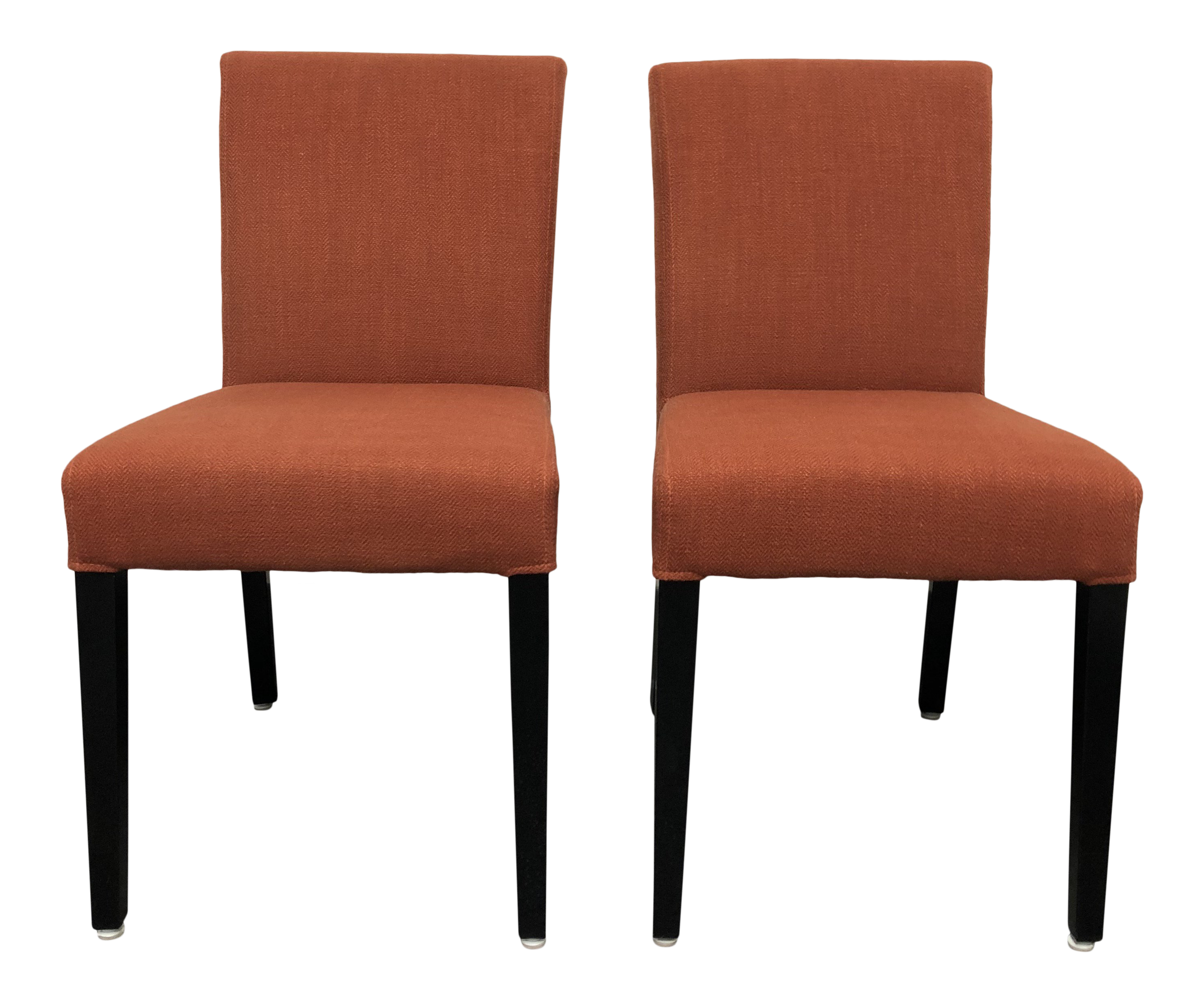 Crate U0026 Barrel Miles Upholstered Side Chairs For Sale