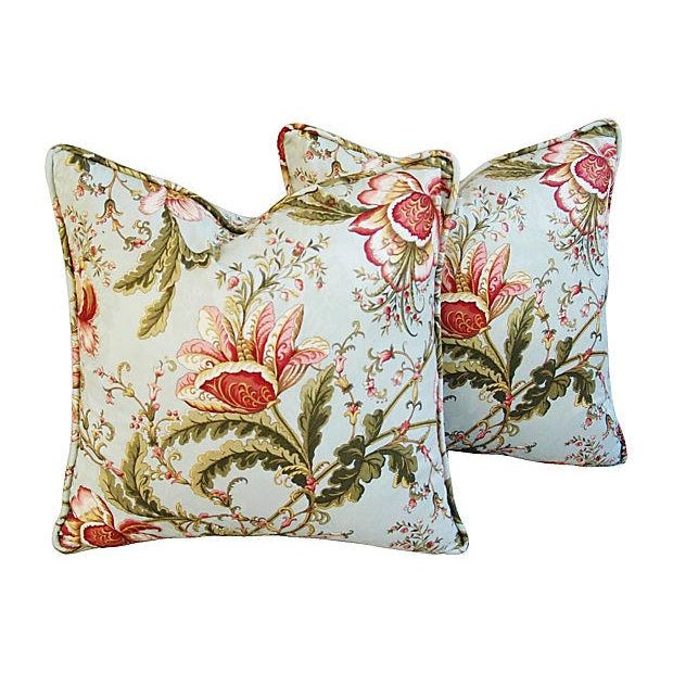 Custom Swavelle Mill Creek Floral Pillows - A Pair - Image 1 of 7