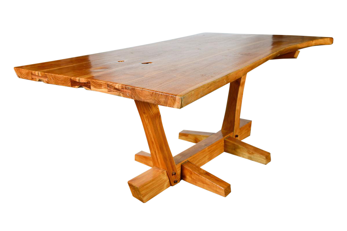 George Nakashima Style Conoid Dining Table For Sale