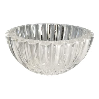 Tiffany & Co Crystal Heart Bowl For Sale