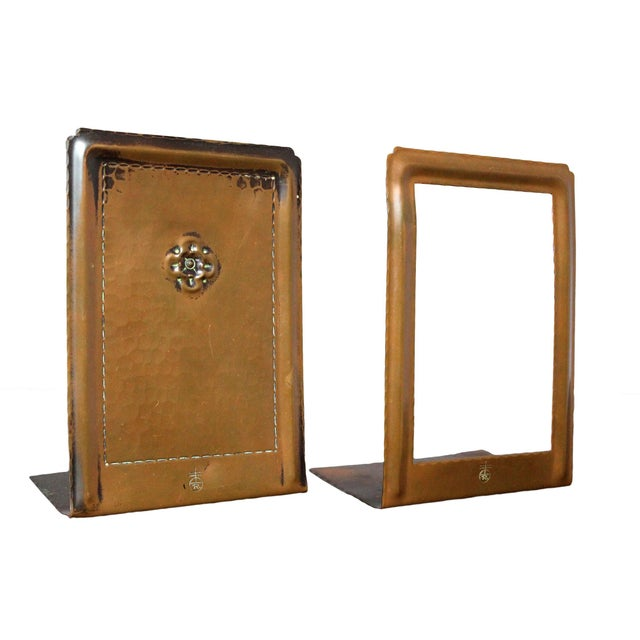 Roycroft Hammered Copper Bookends - A Pair For Sale