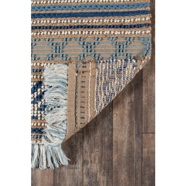 Esme Blue Hand Woven Area Rug 8' X 10' For Sale In Atlanta - Image 6 of 8