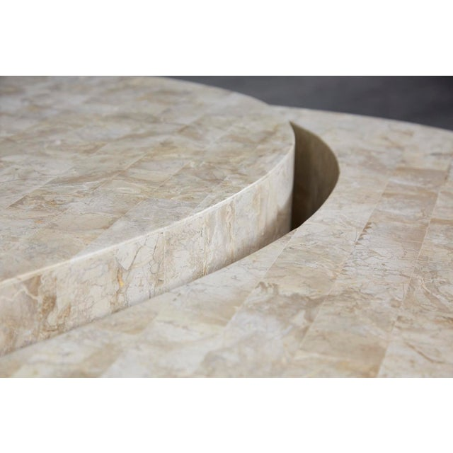 """1990s Contemporary Freeform Tessellated Stone Two Part """"Hampton"""" Coffee Table For Sale - Image 11 of 13"""