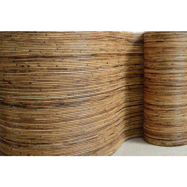 "Italian Gabriella Crespi Style, Pencil Bamboo ""S"" Shape Console Table,, C.1970 For Sale - Image 10 of 13"