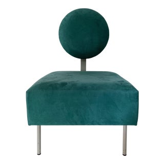 Vintage Andreu World Contemporary Green Square Lounge Chair For Sale