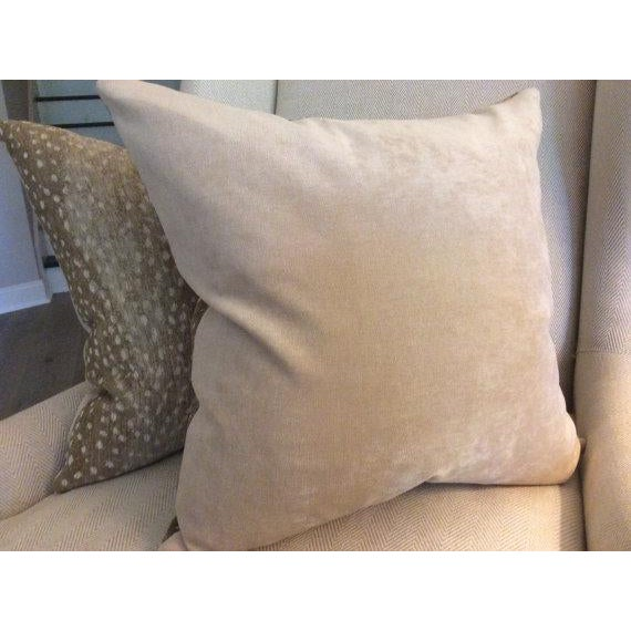 2010s Antelope Chenille Pillows - a Pair For Sale - Image 5 of 5