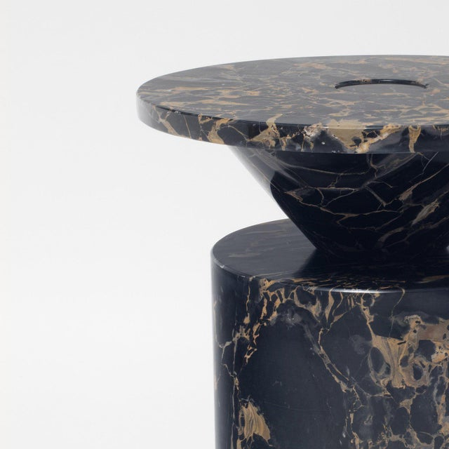 Not Yet Made - Made To Order Black Portoro Marble Coffee Table by Karen Chekerdjian For Sale - Image 5 of 13