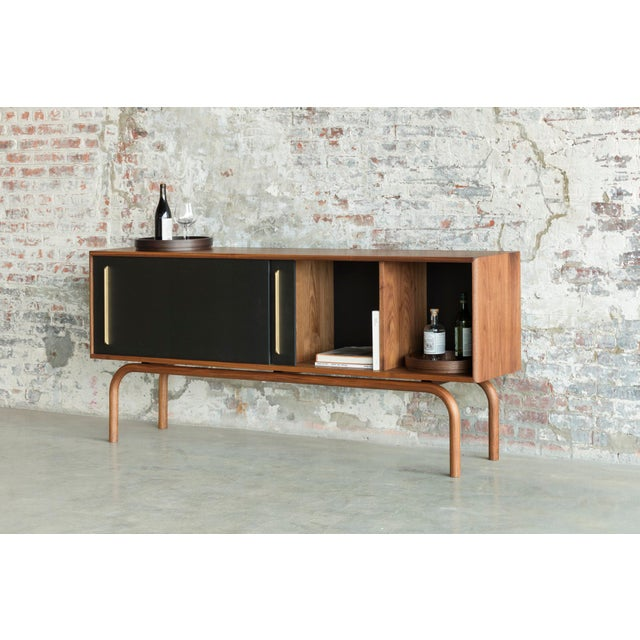 Contemporary Gatsby Credenza in Walnut For Sale - Image 3 of 7