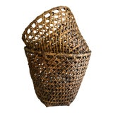 Image of Rustic Woven Wood Storage Decor Baskets-Set of Two For Sale