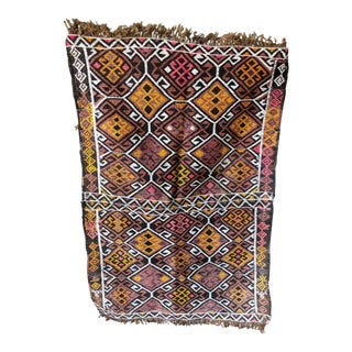 Anglo-Indian Handmade Kilim Rug 2'5'' X 3'8'' For Sale