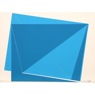 Cris Cristofaro Blue Rectangles Silkscreen