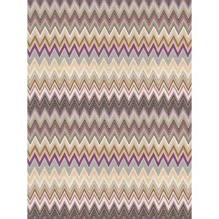Sample, Scalamandre Zig Zags, Plum Wallpaper For Sale