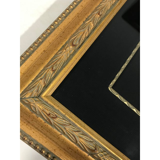 Framed Chinese Stone Disc Plaque in Shadow Box With Nine Black Pearls and Primitive Fish For Sale In Tampa - Image 6 of 8