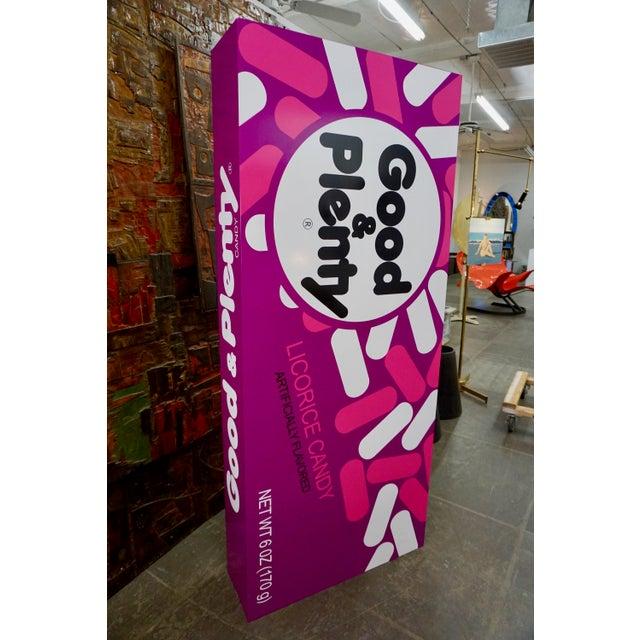 "Paint Pop Art Supersized ""Good&Plenty"" Licorice Candy Box For Sale - Image 7 of 7"